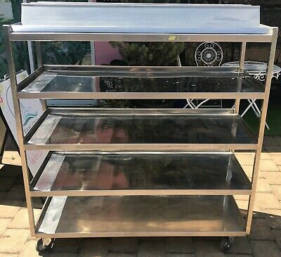 Large Stainless Steel Trolley With Shelves on Wheels