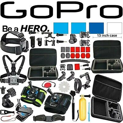 GoPro ULTIMATE 52 PIECES Accessories Kit for GoPro Hero8 Hero7 Hero6 Hero5 Hero4