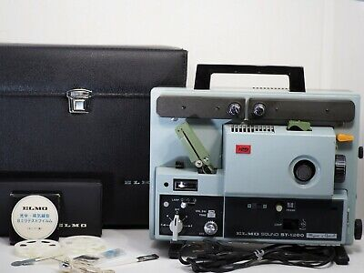 """""""NMint"""" ELMO ST-1200 Super 8 8mm Sound Movie Projector w/ Case From Japan 560"""