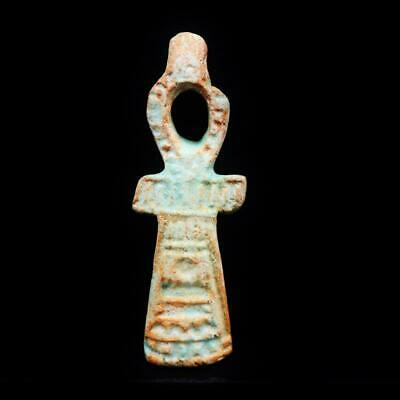 Rare Antique Faience Amulet Cross ANKH Key of Life Figurine of Ancient Egyptian