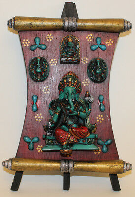 Resin Ganesh Plate, Hand Craved Nepal, CL-208, Brand New