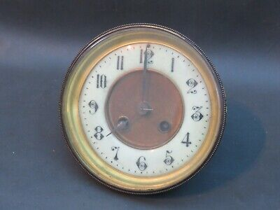 Antique or vintage clock movement dial and door - spares or parts