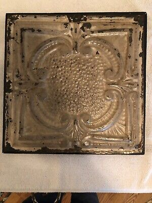 "1pc 13"" X 13"" Full Piece Antique Ceiling Tin Vintage Reclaimed Salvage Art Craft"