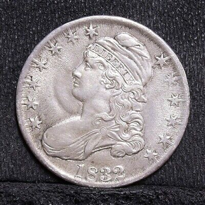 1832 Bust Half Dollar - Small Letters - Cool Flow Lines! - AU (#28302)