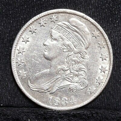 1834 Bust Half Dollar - Large Date, Small Letters - AU (#28514)