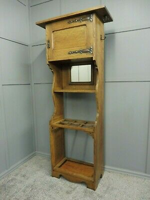 Antique   Oak Arts And Crafts Hallstand
