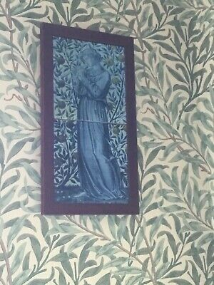 William Morris/Burne Jones musician 2 Tile Panel Framed Kiln Fired Hand Made