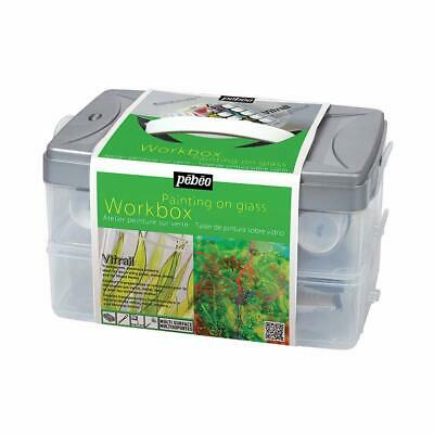 Pebeo Vitrail Glass Paint & Accessories Workbox Set 10 x 45ml
