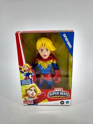 "New Avengers Super Hero Adventures 10"" CAPTAIN MARVEL Mega Mighties Playskool"