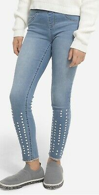 Justice Girls Jeweled Pull On Jean Leggings by JUSTICE Girls Size 12