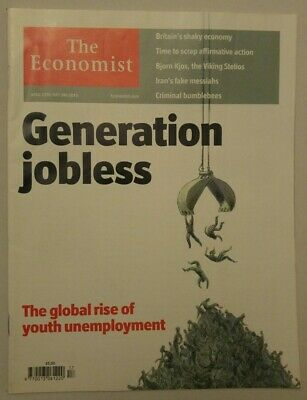 THE ECONOMIST 27 Apr-3 May 2013~ Global rise of Youth Unemployment #8833 Vol 406