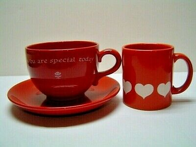 WAECHTERSBACH You Are Special Today Jumbo Soup Mug Saucer & Heart Mug Cup EXC