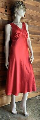 Nwt Enchanting Red Satin Size Small Nightgown    #10763