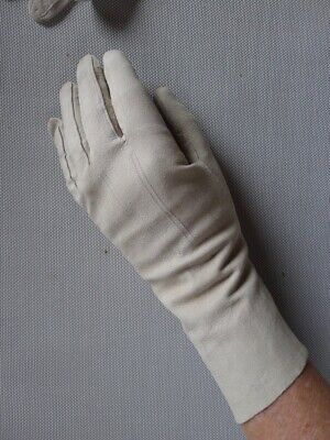 Vintage retro 30s size 7 fine suede leather gloves very good