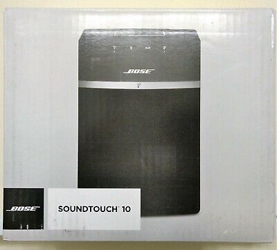 New Bose SoundTouch 10 Wireless Wi-Fi Bluetooth Speaker Black Alexa with Remote