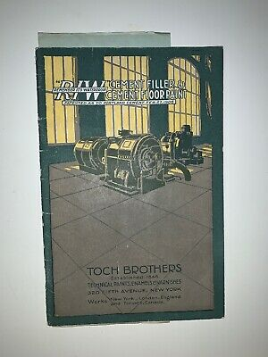 Toch Brothers Cement Filler and Cement Floor Paint 1916 Brochure