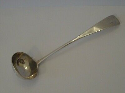 Nice Rare Antique Scottish Provincial Silver Toddy Ladle, Thomas Stewart, Elgin