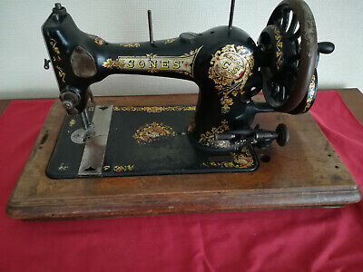 Antique/Vintage JONES Family CS Hand Crank Sewing Machine. Serial number: 30543