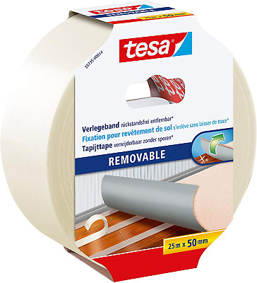 Tesa Carpet Laying Tape, Leaves No Residue, Transparent