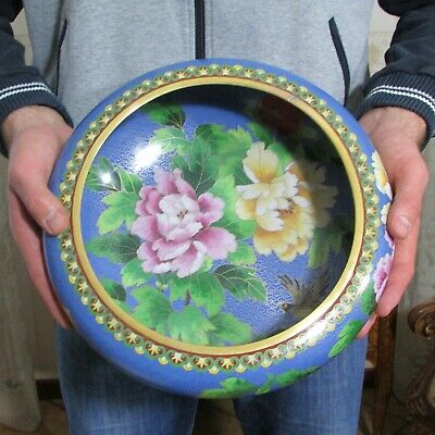 A large bowl of cloisonne enamel