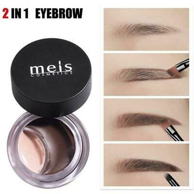 2 In-1 Eyebrow Pencil Waterproof Long Lasting Concealer Moisturizer New Mak E9Q8