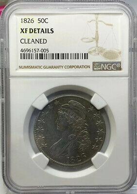1826 Capped Bust Half Dollar NGC XF Details Cleaned