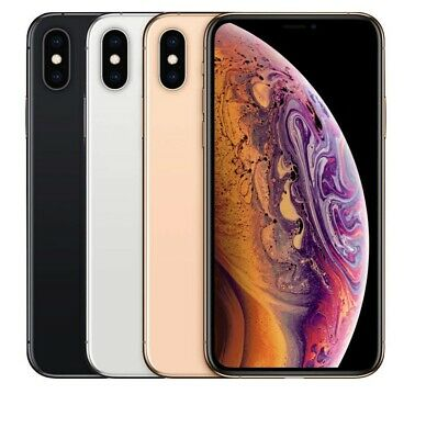 apple iPhone XS 64GB 256GB GSM Factory Unlocked Smartphone Verizon AT&T cracked