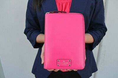 Kate Spade Wellesley Zip Around Personal Planner Organizer Deep Pink