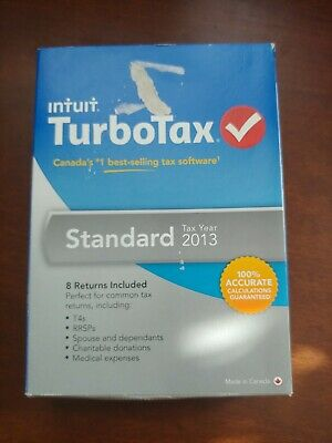 INTUIT TURBOTAX Standard Deluxe 2013 Canadian Version Bilingual Canada Tax CRA