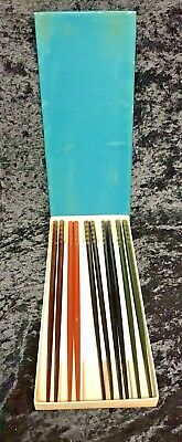 """Japanese 9/""""L Wooden Lacquer Chopsticks Hair Sticks Gift Set Maple Made in Japan"""