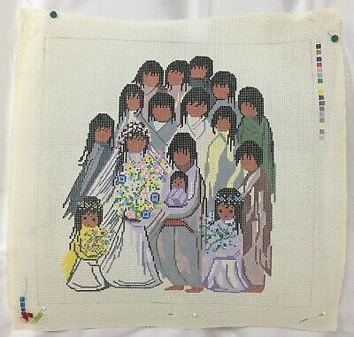 Sundance Designs DeGrazia Marriage SW Wedding Hand Painted Needlepoint Canvas