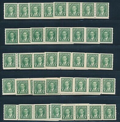 Canada 1937 Mint Nh Strip Of 4 # 238, Lot Of 23 Strips !!  Cb28