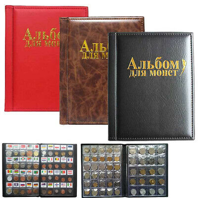 250 Collecting 120 Coin Collection Storage Holder Money Penny Album Book Pockets