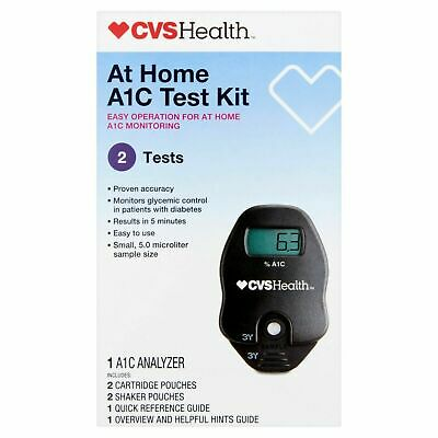 New Cvs At Home A1C Test Kit Easy to use. 2 tests included - GUARANTEED FRESH!