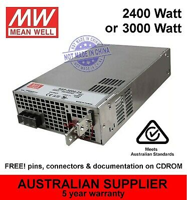RSP-2400 RSP-3000 power supply 2400W or 3000W 12V 24V 48V DC output - MeanWell