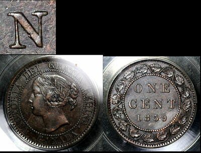 BLACK FRIDAY SALE: Large Cent - 1859 Triple Punched N in CENT - AU (b315)