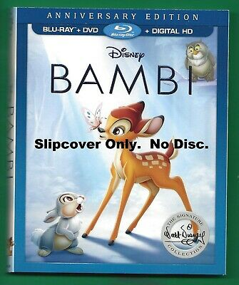 Disney Bambi SLIPCOVER ONLY fits blu-ray case