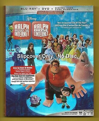 Disney Ralph Breaks the Internet SLIPCOVER ONLY fits blu-ray case