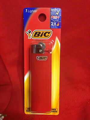 BIC Lighters Disposable CLASSIC FLICK- RED - Pack of 1-CIGAR CIGARETTE PIPE-NEW
