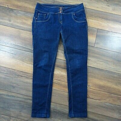 Next Size 18L Lift Slim And Shape Dark Blue Skinny Jeans Ladies Long Tall