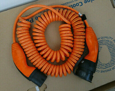 OEM Charging cable type 2 to type 2 single phase 20 Amp 4 kW 5 meter coiled EV