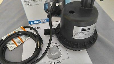 "Simer 2110 - Geyser Jr  6.5 GPM (3/4"") Thermoplastic Submersible Utility Pump"