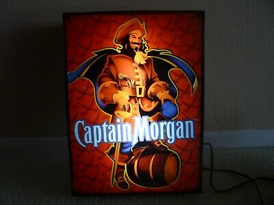 Captain Morgan Rum Lighted Box Sign (13.5 X 18.5 X 3.5) Pub,Lounge,Mancave