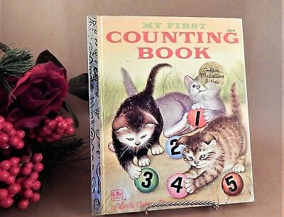 My First Counting Book Little Golden Book Childrens Numbers Animals VTG 1980s