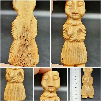 Excellent Unseen Ancient Bactrian Idol Male Bone Statue #A151