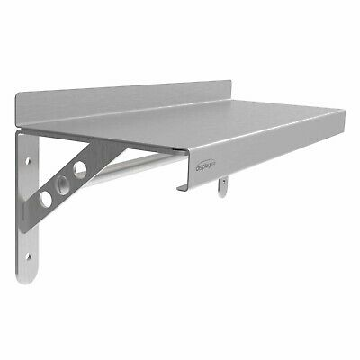 Stainless Steel Shelf with Rail Commercial Kitchen Catering Equipment Shelving