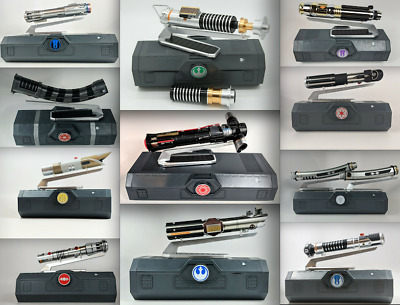 (14) Star Wars Galaxy's Edge Legacy Lightsaber lot w/Reforged Luke Kylo Tano+++