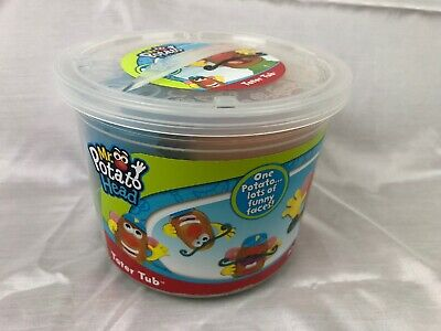 Playskool Mr. Potato Head Tater Tub Set Parts and Pieces Container Toddler 17Pcs