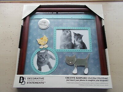 Wilton Creative Keepsake 12 x 12 Cat Scrapbook Frame Kitty Kitten Picture NEW
