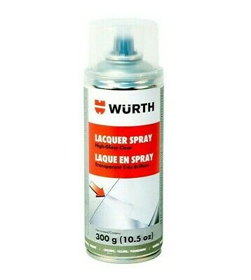Wurth 893.35193 High-Gloss Clear Transparent Lacquer Spray Paint 400mL - Wheels